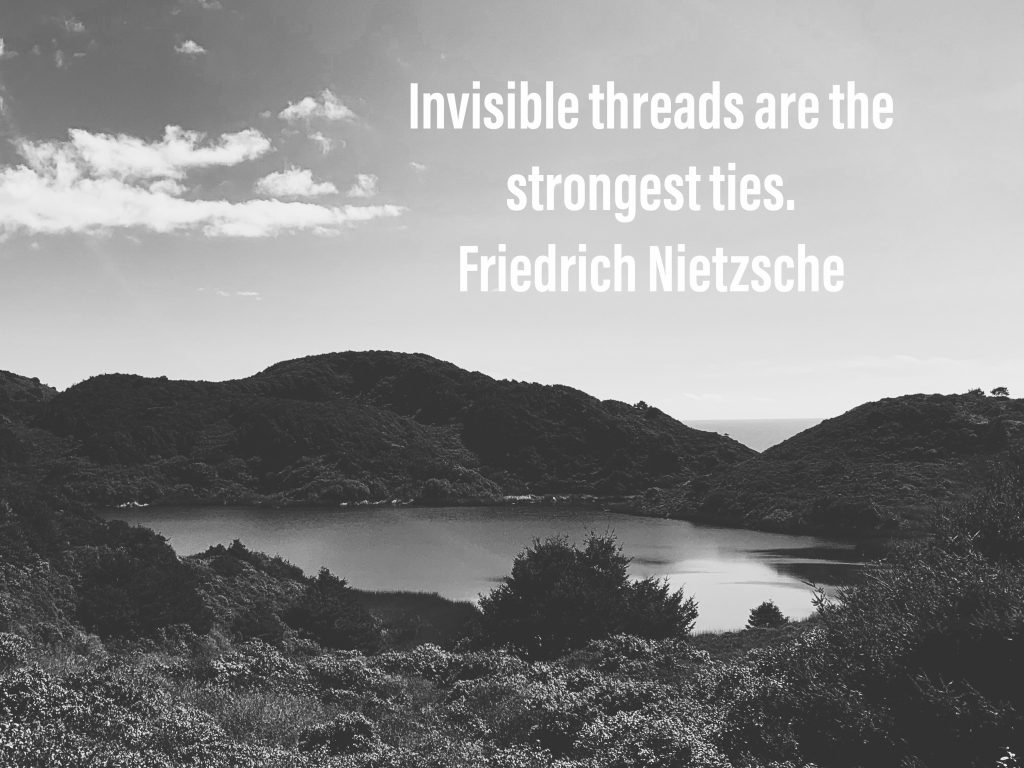 """Invisible threads are the strongest ties."" Friedrich Nietzsche"